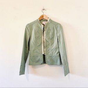 Romeo & Juliet Couture olive green military jacket